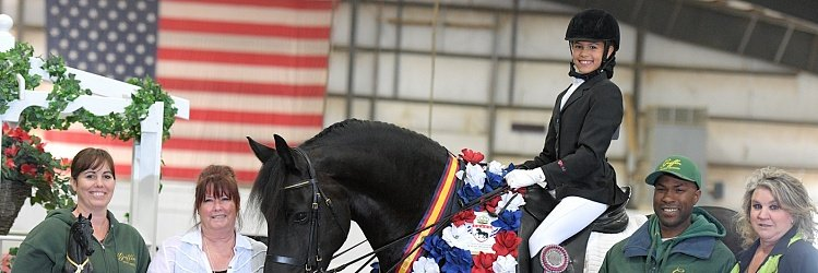 Janae Griffin Named Most Valuable Rider at  2016 International Friesian Show Horse Association World Show