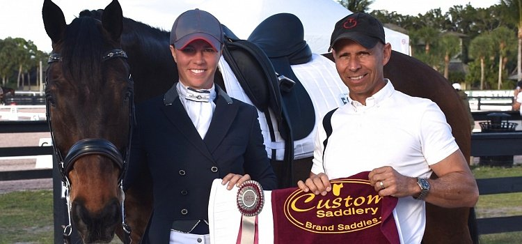 Custom Saddlery Honors Dawn White-O'Connor for Taking   the Reins of Steffen Peters' Olympic Partner, Legolas 92