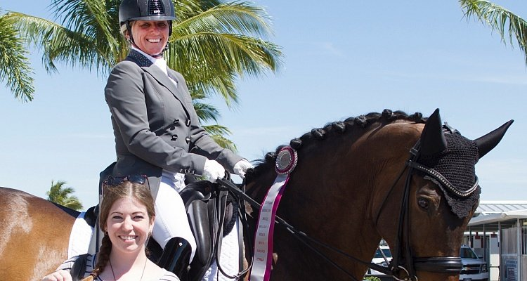 Canadian Olympian Evi Strasser Wins Custom Saddlery MVR   Award at Adequan Global Dressage Festival