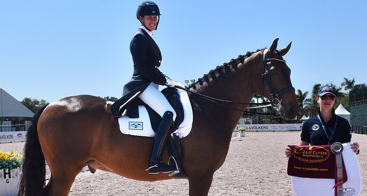 Custom Saddlery Honors U.S. Rider Olivia LaGoy-Weltz with   MVR Award at Adequan Global Dressage Festival