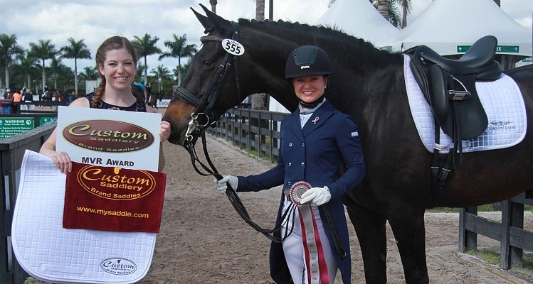 Devon Kane's Commitment to Quality Earned the Custom  Saddlery MVR Award at the Adequan Global Dressage Festival
