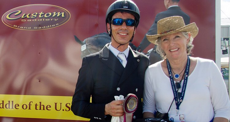 Sahar Daniel Hirosh Kicks Off the 2018 Adequan® Global Dressage Festival by Winning The Custom Saddlery Most Valuable Rider Award