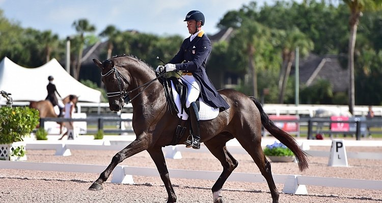 Endel Ots and Lucky Strike Smokin' at Global Dressage Festival