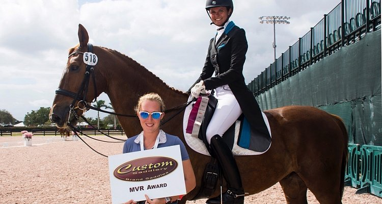 "Custom Saddlery Says ""Oui!"" to Molly Paris with Most Valuable Rider Award for Adequan Global Dressage Festival Week Seven"