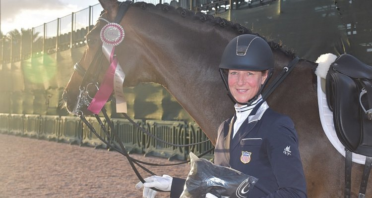 "Custom Saddlery's ""Most Valuable Rider"" Award Goes to California's Sabine Schut-Kery during the Final Week of the Adequan® Global Dressage Festival"