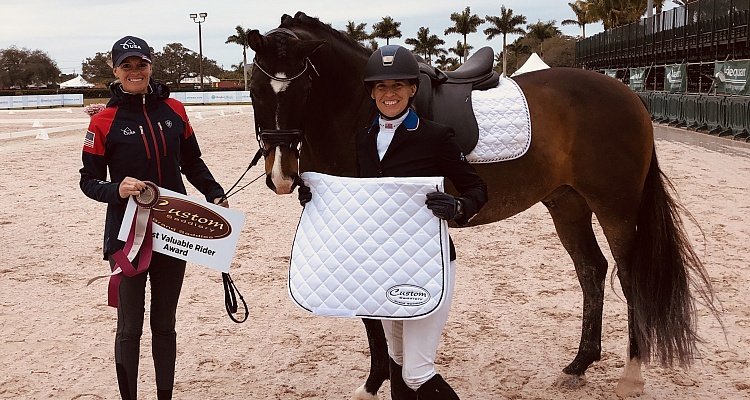 Rebecca Hart Awarded Custom Saddlery's Most Valuable Rider at AGDF Week Two